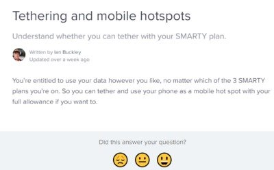 SMARTY Tethering