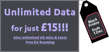 SMARTY Cheapest Unlimited Data Ever Black Friday