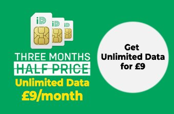 iD Mobile Unlimited Data SIM offer May 2021