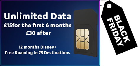 O2 Black Friday Unlimited Data Offer 2020