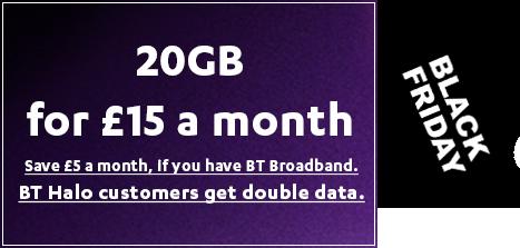 BT Mobile Black Friday SIM Only Deal 2020