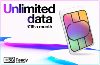 Three Unlimited Data for £19 - November 2020