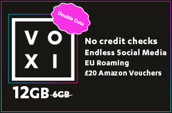 VOXI October 2020 Double Data Offer