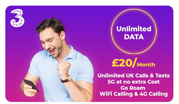 Three Unlimited 5G Offer